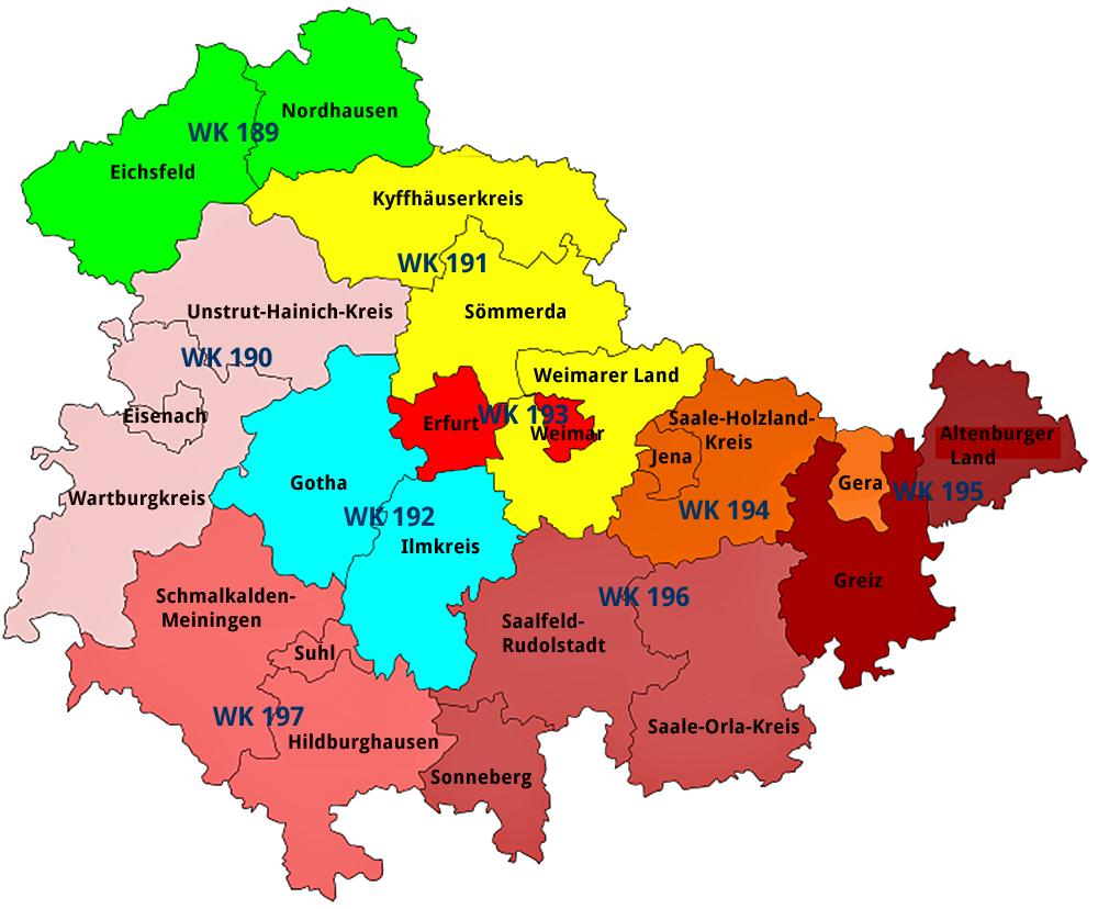 Thüringen Wahlkreise
