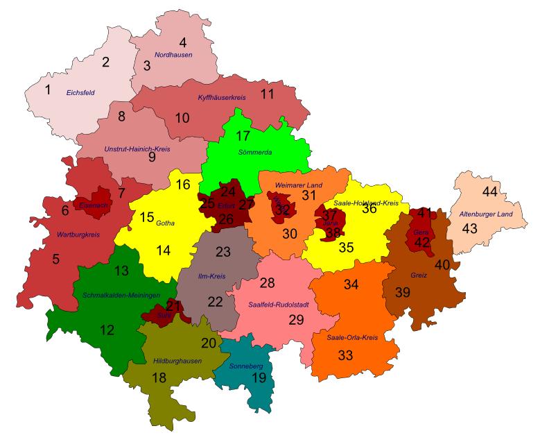 Wahlkreise Thüringen