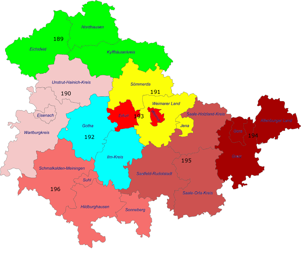 Wahlkreise Bundestagswahl 2017